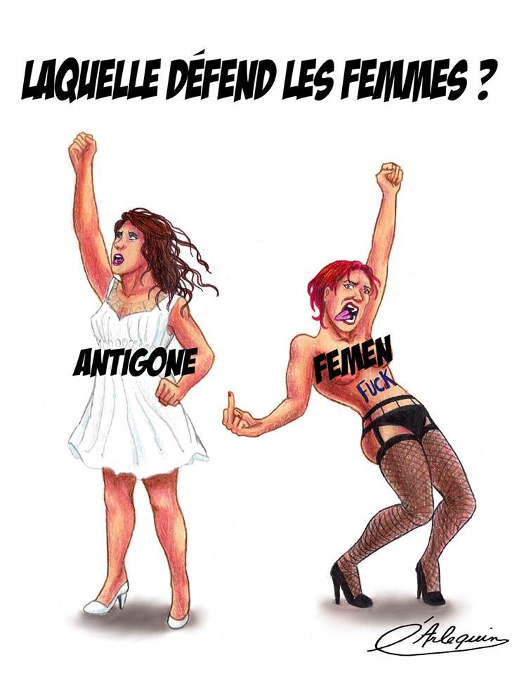 Antigones vs Femen - Laquelle défend les Femmes ?