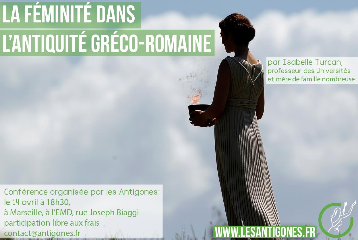 annonce conf féminité antiquité gréco-romaine Marseille ATG