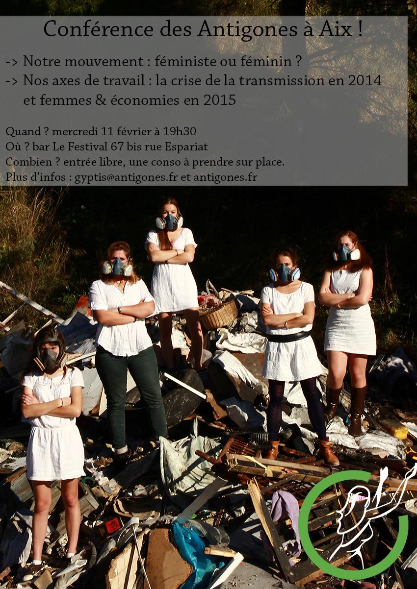 conférence antigones marseille aix gyptis pérénnité décharge féminité décroissance